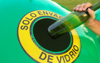 contenedor para vidrio