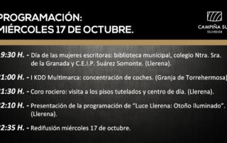 17 octubre programación campiña sur tv