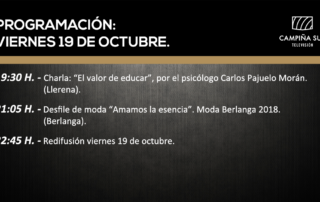 19 de octubre programación campiña sur TV