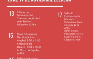 semana prevención alcohol 2018 en Llerena programación